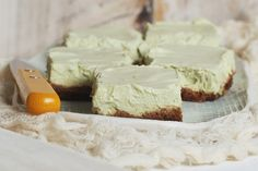 ... key lime cheesecake bars are made with a dairy-free cashew filling