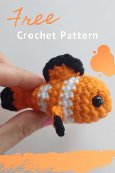 Nemo Find here a free pattern for an adorable tiny crochet fish. It is the perfect size to make a fish in a jar! Find here a free pattern for an adorable tiny crochet fish. It is the perfect size to make a fish in a jar! Crochet Cat Toys, Crochet Amigurumi Free Patterns, Crochet Animal Patterns, Stuffed Animal Patterns, Cute Crochet, Crochet Animals, Crochet Crafts, Crochet Dolls, Crochet Baby