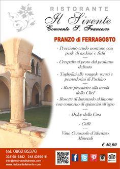 Una giornata di #ferragosto all'insegna della #buonacucina, #grandebellezza e #frescura di antiche mura