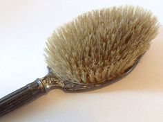 Vintage Silver Plated Hair Brush by ArtByThePond on Etsy