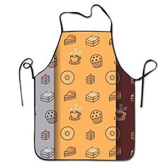 Cute Sweets Bakery Coffee Chef Aprons Chef Apron For Women Men Girl Kids Gifts Kitchen Decorations *** Want additional info? Click on the image(It is Amazon affiliate link). #FunBaking