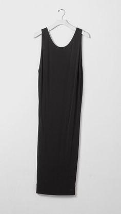 Helmut Lang Long Dress in Black   The Dreslyn