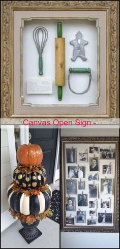 Diy Crafts Vintage, Open Signs, Canvas, Frame, Check, Home Decor, Tela, Picture Frame, Decoration Home