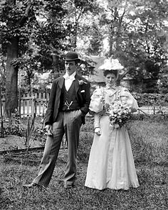 Wedding couple, 1890s