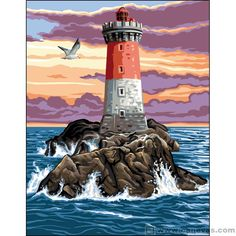 Il faro - The Lighthouse Oil Pastel Drawings, Art Drawings, Garden Mural, Lighthouse Painting, Lighthouse Pictures, Princess Drawings, Madhubani Painting, Rock Painting Designs, Wall Art Pictures