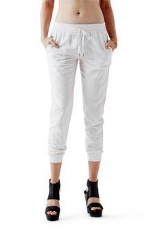 Linen Jogger Pants | GUESS.com