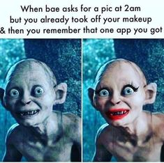 Those makeup apps - FunSubstance Apps, Funny Kids, Funny Cute, Fb Memes, Funny Memes, Minions, Boy Images, Memes Of The Day, Workout Humor