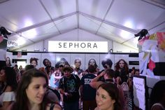 People mill about the air-conditioned Sephora tent during the second day of the second weekend of the Coachella Valley Music and Arts Festival at the Empire Polo Club in Indio, CA on Saturday, April 22, 2017. (Photo by Kevin Sullivan, Orange County Register/SCNG)
