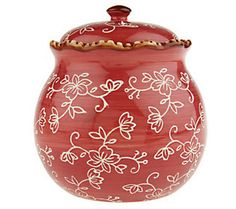 Temp-tations Floral Lace 3-piece Canister Set