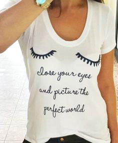 Camiseta Close your eyes - HARUMI