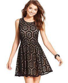 too 'junior'? $35 Urban Hearts Juniors Dress, Sleeveless Lace A-Line - Juniors Dresses - Macy's