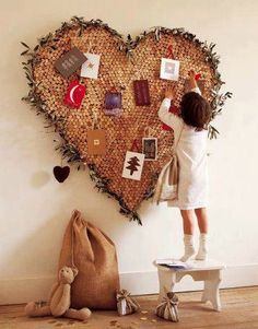 Inspiration for cork card holder I made, love it!