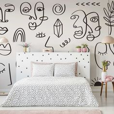 Let's face it, aren't these murals just a minimalist's DREAM?! As part of our NEW line art collection, these designs are the perfect choice for an on-trend space. Style with off white, cream and cappuccino toned furniture and accessories for a tonal neutral colour scheme, whilst also bringing some warmth to the room. Are these a bit of you? Get the look at Wallsauce.com #neutralstyle #neutraldecor #minimalism #minimalist #facelineart #lineart Face Lines, Neutral Color Scheme, New Wallpaper, Designer Wallpaper, Line Art, Minimalism, Murals, Interior, Room