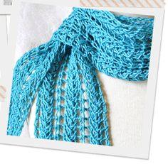 Zig Zag Knit Lace Scarf in Craftsy Blog Article - Meet Lace Knitting Pattern Designer, The KnittingGuru