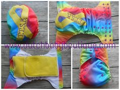 T.T.S.B. (Take That Spina Bifida) OS AiO Cloth Diaper - embroidery & hand applique www.dutchbabyboutique.com www.facebook.com/DutchBabyBoutique