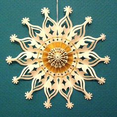 paper cut star ornament