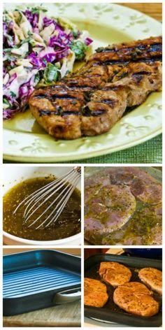 Greek-Seasoned  Grilled Pork Chops Recipe with Lemon and Oregano
