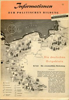 Die deutsche Ostgebiete - Die wirtschaftliche Bedeutung 1956