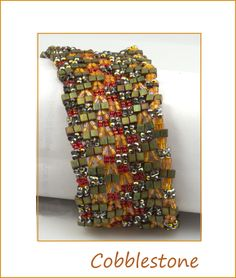 Cobblestones Bead Kit Beaded Bracelet Patterns, Beading Patterns, Beaded Bracelets, Slide Bar, Bead Kits, Bead Jewellery, Beading Projects, Different Shapes, Needle And Thread