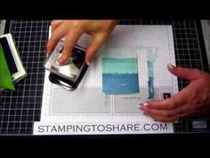 9/11/13 The Painter's Tape Technique with The Open Sea and a Video Tutorial | Stamping to Share | Bloglovin'