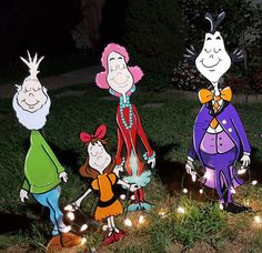 $250.00 Whoville Yard art. The Whoos have come to save Christmas from the Grinch!