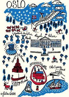 Oslo Cityscape by Julia Gash