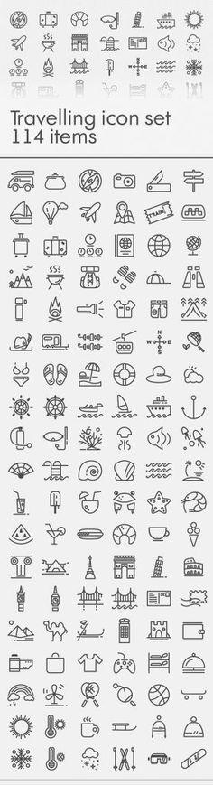free-traveling-icon-set
