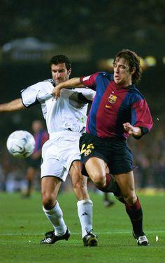 Puyol marcó a Figo en el primer partido de Luis en el Camp Nou como jugador del Real Madrid (21 de octubre de 2000)