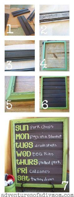 Adventures of a DIY Mom - DIY Chalkboard, Beadboard, Menu Board