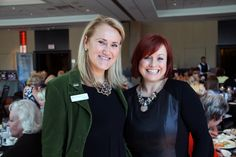 From left, Ann Rickenbacker and Sam Poole at the Ladies Who Lunch networking event held at the Westin hotel on Tuesday, September 24, 2013.   Photo by Caroline Phillips - See more at: http://www.ottawacitizenstyle.com/category/around-ottawa/margaret-atwood-takes-starch-out-of-literary-luncheon/#sthash.3yoTJeOF.dpuf