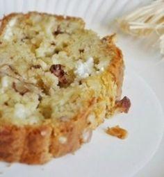 Cake au Chèvre, aux Noix et aux Oignons Caramélisés (2 pers.) 150 gr. de farine - 1 sachet de levure chimique - 145 ml de lait - 50 ml d'huile de tournesol - 30 ml d'huile de Noix - 3 œufs - 1 gros...