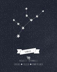 Virgo Constellation Print Art Print by Angelina Perdomo | Society6