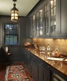 American Country Butler's Pantry | Barnes Vanze Architects, Inc. | Dering Hall Design Connect In partnership with Elle Decor, House Beautiful and Veranda.