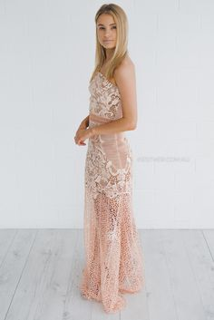 grace and hart adele gown - blush | Esther clothing Australia and America USA, boutique online ladies fashion store, shop global womens wear worldwide, designer womenswear, prom dresses, skirts, jackets, leggings, tights, leather shoes, accessories, free shipping world wide. – Esther Boutique