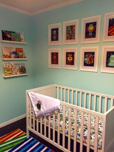 Project Nursery - Turquoise and Orange Baby Bot Nursery