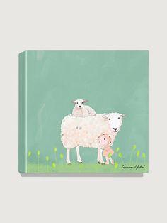 Antonia Press  Sheep Family Canvas Print