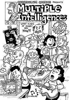 """Cómic """"Inteligencias Múltiples"""", muestra de manera gráfica como se desarrolla cada niño según su habilidad y en que destaca, donde el maestro es solo orientador.  #maestrointeligencias #comicinteligencia #comicinteligenciasmultiples"""