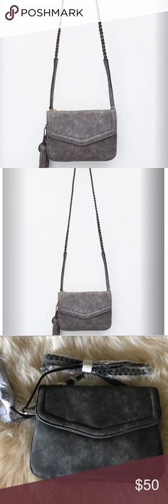 e0b554b7d405 Braided Annette Crossbody Free People brand Violet Ray Anette faux leather  crossbody bag. This is