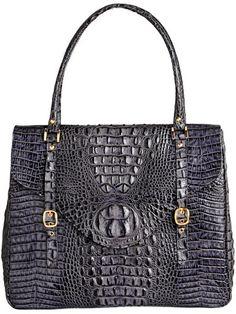 Helen Briefcase - Grey By Elizabeth Laine Handbags $695.00
