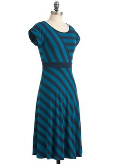 SO pretty! Looks great on -- An Afternoon With You Dress in Blue, #ModCloth