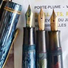 Some The Crown and Onoto ones are supremely flexy. THe duofold is a firm fine one. Can't wait to restore them into full working order! Vintage Pens, The Crown, Restore, Restoration, Canning, Instagram Posts, Pen Holders, Home Canning, Conservation