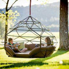 Super Ideas For Backyard Hammock Pergola Garden Swings Backyard Hammock, Outdoor Hammock, Hammock Swing Chair, Patio Swing, Swinging Chair, Hammock Ideas, Hanging Hammock, Hammocks, Diy Hammock