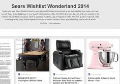 Sears Wishlist Wonderland Pinterest Contest