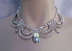 Ballroom Pear and loop necklace.