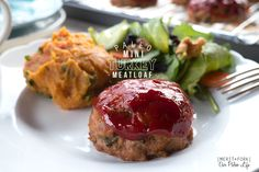 Meatloaf: Upgraded. Gluten/grain-free, veggie-packed Turkey Meatloaf made miniature & topped w/ homemade paleo ketchup! Get the recipe on OurPaleoLife.com!