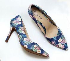 c24269349e Sapato Scarpin Feminino Salto Alto Floral – Ref  6080070