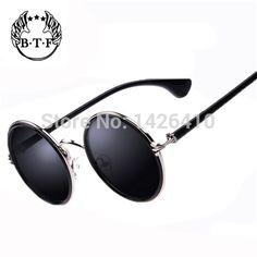 Unisex designer brand mens round sunglasses oculos redondo vintage vogue sun glasses female oculos de sol masculinos lentes