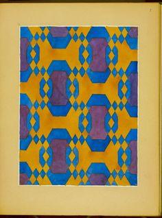 Colored decorative design, Bragdon, Claude Fayette, 1866-1946, Original designs