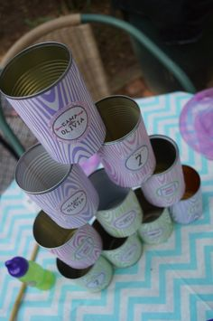 Glamping glam camping party ideas for little girls. The wood tone contact paper would be cute for something.