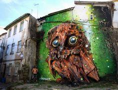BORDALO II - Urban trash street art